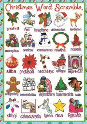... > Holidays and traditions > Christmas > Christmas word scramble