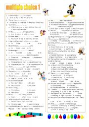 English Worksheet: multiple choice 1 (A2)