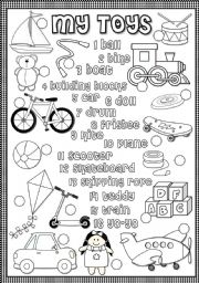 English Worksheets: My toys - matching