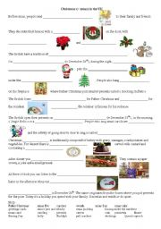 English Worksheet: Christmas traditions in the UK