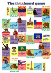 English Worksheet: The USA board game 2