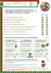 English Worksheet: Christmas around the World  -  Listening test
