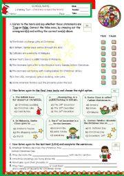 English teaching worksheets: Christmas around the world