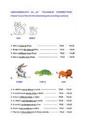 English Worksheets: camparisons
