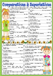 English Worksheet: COMPARATIVES AND SUPERLATIVES