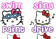 English Worksheet: Actions. Hello Kitty