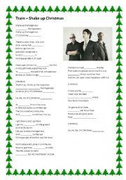 English Worksheet: Train - Shake up Christmas (Coca-Cola advertisement)