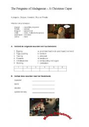 English Worksheets: Penguins of Madagaskar quiz