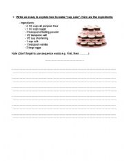 English Worksheets: writing about a process