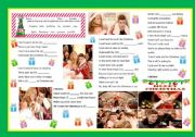 English Worksheets: song: ALL I WANT FOR CHRISTMAS IS YOU by Mariah Carey and Justin Bieber - with ANSWER KEY and VIDEO/LYRICS