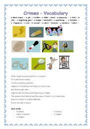 english teaching worksheets crimes. Black Bedroom Furniture Sets. Home Design Ideas