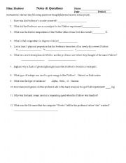 English Worksheets: Flubber Notes and Questions
