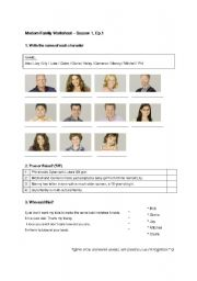 Modern Family Season1 Ep.1 Worksheet (quite easy one)