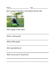 English Worksheets: Who What Where When questions - Picture Based