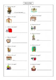 English Worksheet: prepositions (in-on-under-next to)