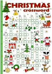 English Worksheet: Christmas crossword