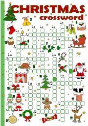 English Worksheets: Christmas crossword