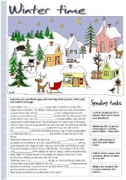English Worksheets: Winter time