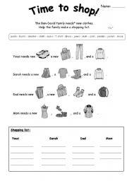 basic reading (rebus style) on clothing