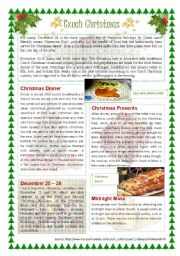 English Worksheet: Christmas in the Czech Republic (editable with key)