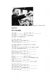 English Worksheets: PRIDE by U2