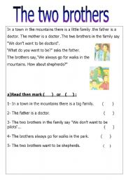 English Worksheets: two brothers