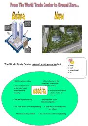 English Worksheet: The World Trade Center before and after 9/11