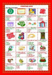 English Worksheet: Christmas quiz (+key)