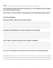 English Worksheets: the bully