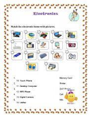 English Worksheets: Electronics