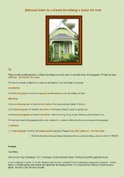 English Worksheet: Letter to a friend describing a house for rent