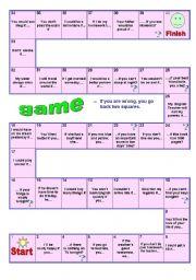 English Worksheet: Conditional Game