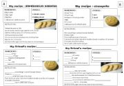 English Worksheet: two recipes - pairwork