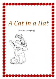English Worksheets: A Cat in a Hat