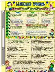 English Worksheets: LINKING WORDS (and-but-or-so-because-because of)