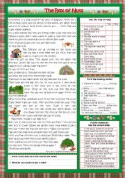 English Worksheets: The Box of Nuts (key included)