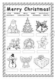 merry christmas esl worksheet by blackdevil555. Black Bedroom Furniture Sets. Home Design Ideas