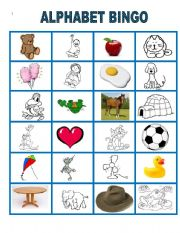 photograph regarding Alphabet Bingo Printable named The Alphabet BINGO. Section 2 - ESL worksheet by way of lomasbello