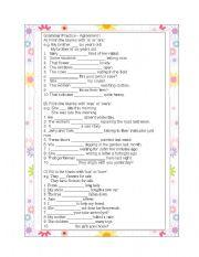 Grammar Practice, Agreement I