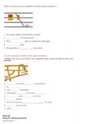 English Worksheet: exercise for asking way