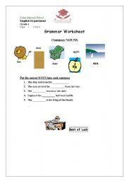 English Worksheets: Noun-Worksheet