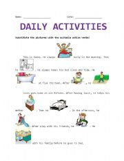 English Worksheets: Daily Activity
