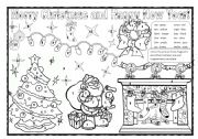 Christmas colouring! Numbers (1-12) and colours.