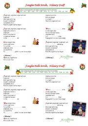 English Worksheet: Jingle Bell Rock ! Hilary Duff