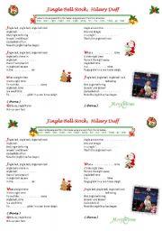 English Worksheet: Jingle Bell Rock ! Hilary Duff