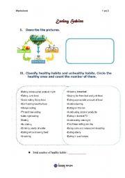 English Worksheets: eating habit