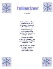 English Worksheet: Falling Snow