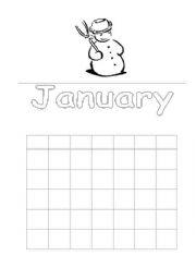 English worksheet: Calendar
