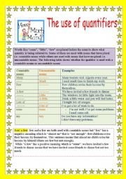 English Worksheets: the use of quantifiers