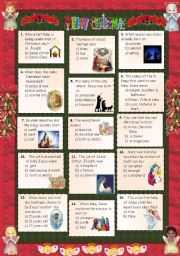 English Worksheet: Christmas 2011 - Quiz 2 + key